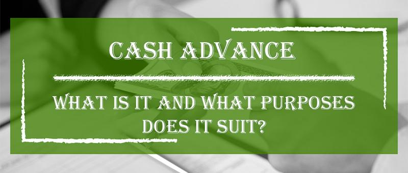 What is a cash advance?